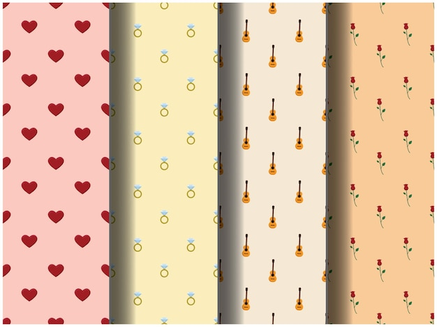 Wallpaper background pattern template icon party cartoon poster flyer vector happy valentine love