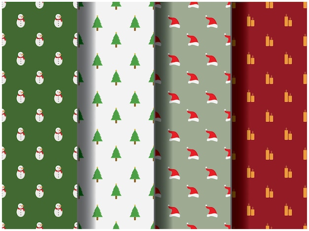 Wallpaper background pattern template icon party cartoon poster flyer vector merry christmas santa