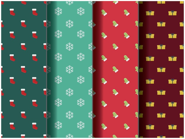Wallpaper background pattern template icon party cartoon poster flyer vector palette merry christmas