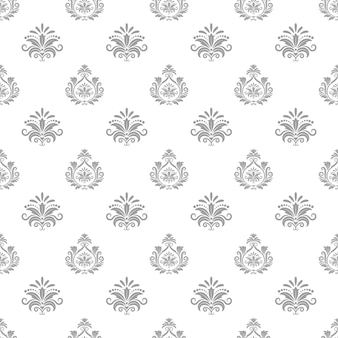Wallpaper in baroque style. background seamless pattern, textile design, decorative vector illustration