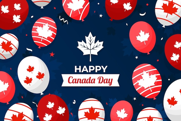 Wallpaper for canada day with balloons