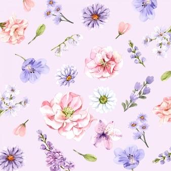 벽지 꽃.