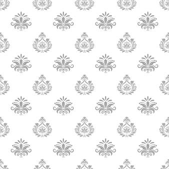 バロック様式の壁紙。背景のシームレスなパターン、テキスタイルデザイン、装飾的なベクトルイラスト