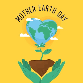 Wallpaper of mother earth day in flat design style