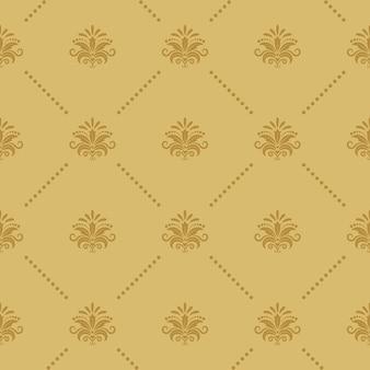 壁紙のシームレスなバロックパターン。ルネッサンス様式の装飾ビクトリア朝様式。 Premiumベクター
