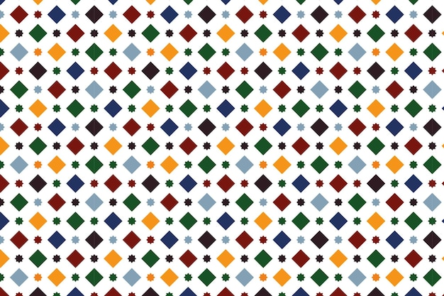 Wallpaper simulating a granada tile, with a pattern of squares and eight-pointed stars