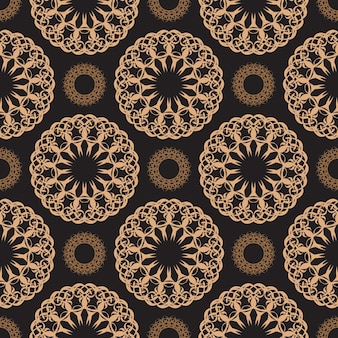Wallpaper in a vintage style pattern. indian floral element. graphic ornament for wallpaper, fabric, packaging, wrapping.
