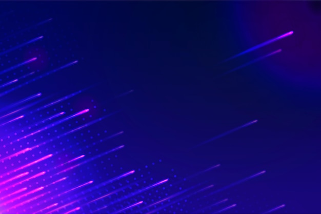 Wallpaper with abstract neon lights