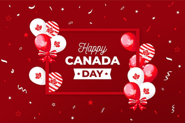 Wallpaper with balloons for canada day