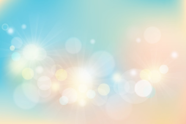Wallpaper with bokeh design