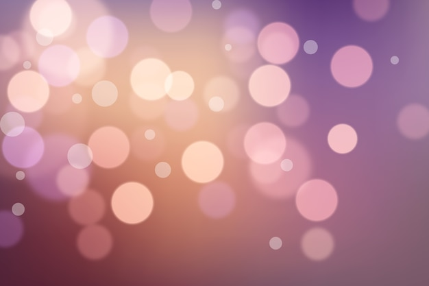 Wallpaper with bokeh effect design