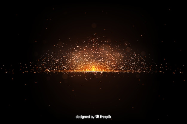 Wallpaper with explosion particle design