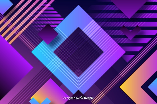 Wallpaper with geometric shapes concept