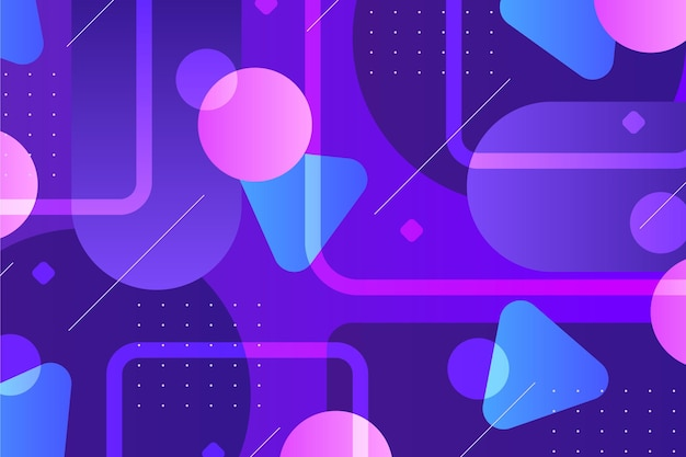 Wallpaper with geometrical gradient shapes