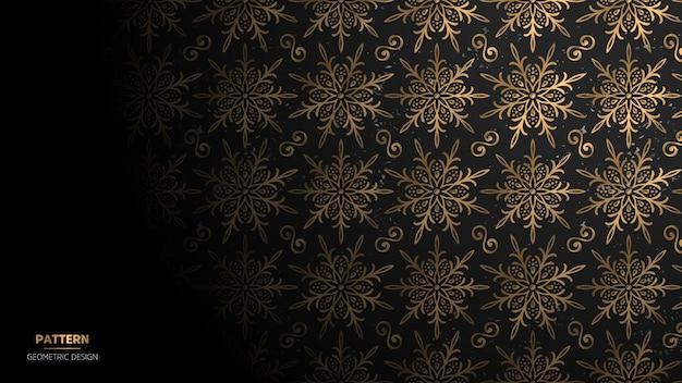 Wallpaper with mandala pattern.