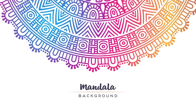 Wallpaper with mandala pattern.