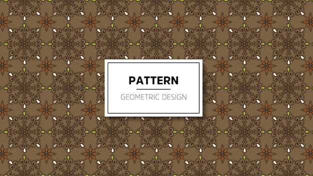 Wallpaper with mandala seamless pattern.