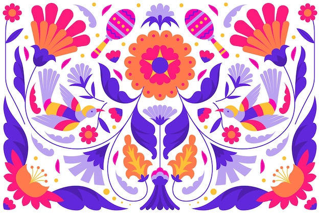 Wallpaper with mexican theme