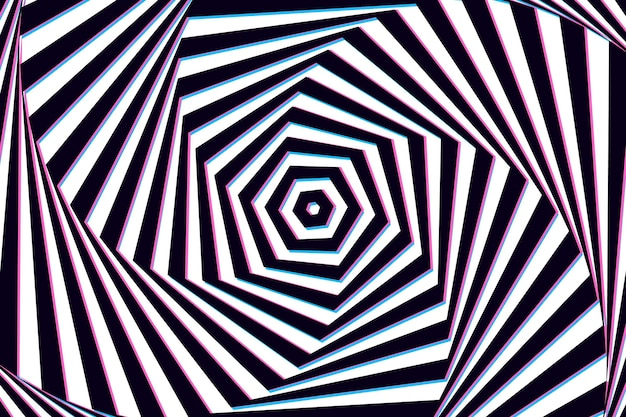 Wallpaper with psychedelic optical illusion