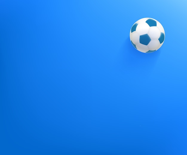 Wallpaper with soccer ball. background with copy space