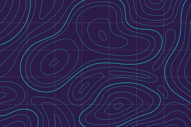 Wallpaper with topographic map design