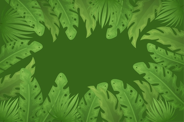 熱帯の葉のコンセプトの壁紙