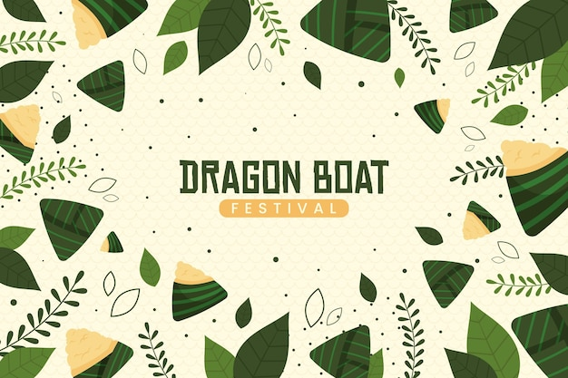 Wallpaper with zongzi for dragon boat