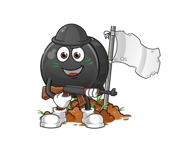 Орех армейский персонаж мультфильма талисман