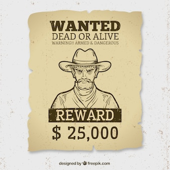 Wanted alive or dead poster