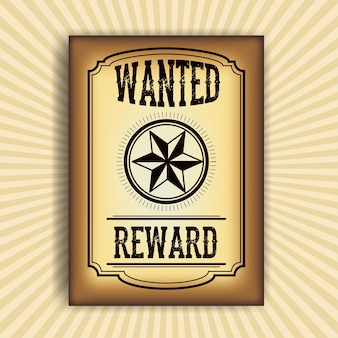 Wanted paper poster icon