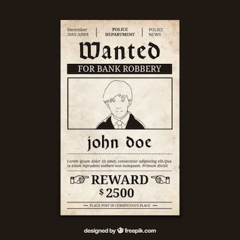 범죄와 큰 보상을 원하는 포스터