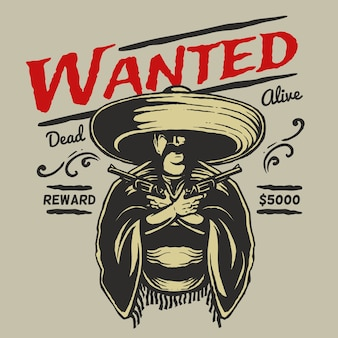 Wanted wild west poster