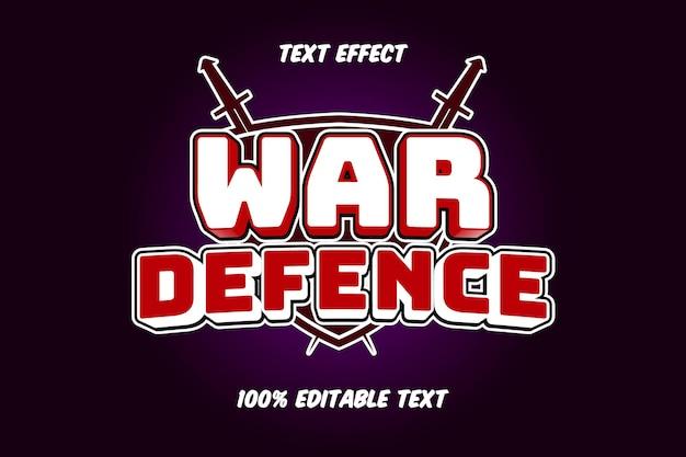 전쟁 편집 가능한 텍스트 효과