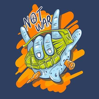 Not war illustration