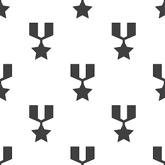 War medal, vector seamless pattern, editable can be used for web page backgrounds, pattern fills