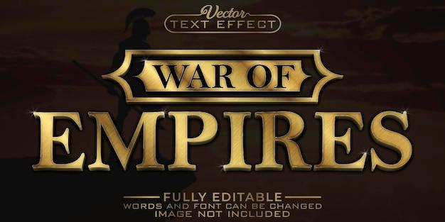 제국의 전쟁 황금 편집 가능한 텍스트 효과 템플릿