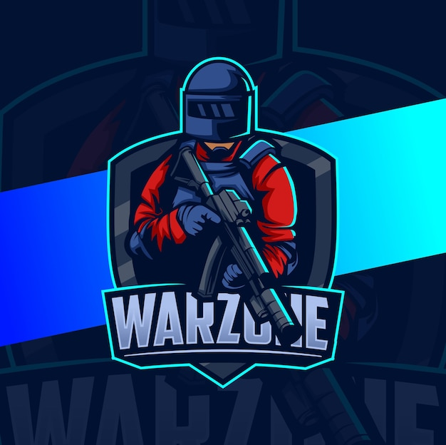 War squad mascot esport logo design
