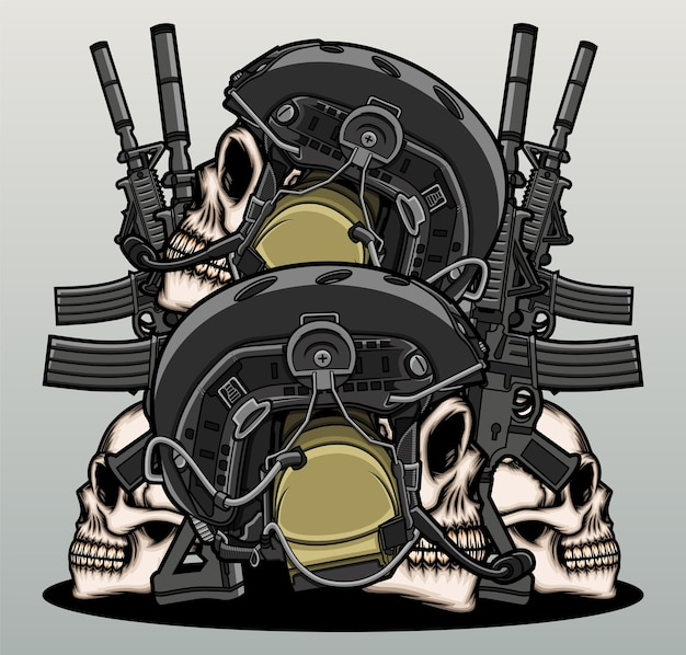 War warrior skull head.