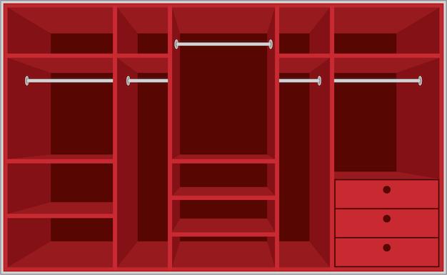 Гардеробная комната. мебель Premium векторы