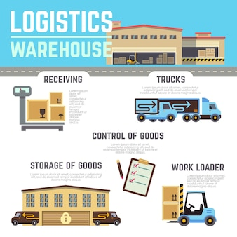 Warehouse cargo infographics