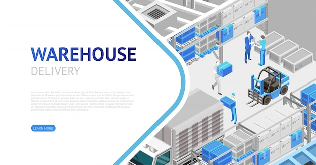 Warehouse delivery isometric
