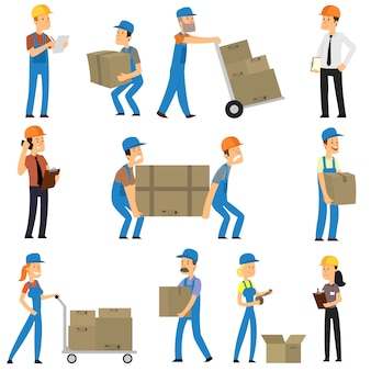 Warehouse and delivery workers.
