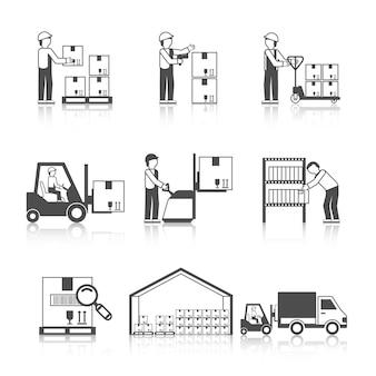 Warehouse icon black