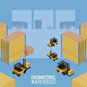 Warehouse infographic illustration.