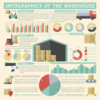 Warehouse infographic set
