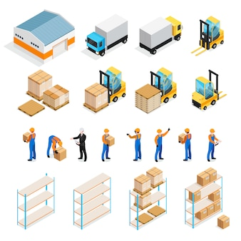 Warehouse isometric set