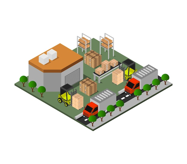 Warehouse isometric