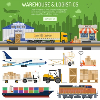 Warehouse and logistics banner
