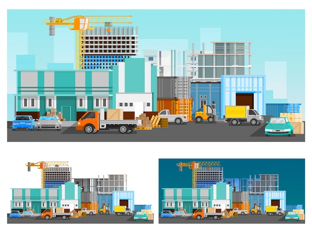 Warehouse and logistics compositions set