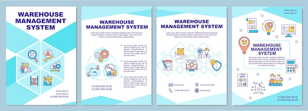 Warehouse management system brochure template